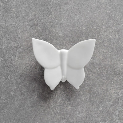 Cassidy White Butterfly Ceramic Wall Sculpture - Set of 3