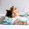 Harper Turquoise and Peach Floral Print Bed Sheet - Home Artisan_1