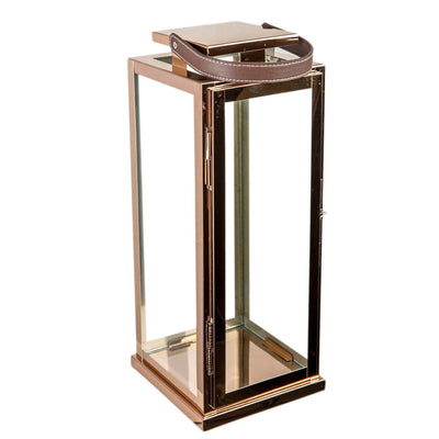 Harrington Rose Gold Stainless Steel Lantern (Large) - Home Artisan_4
