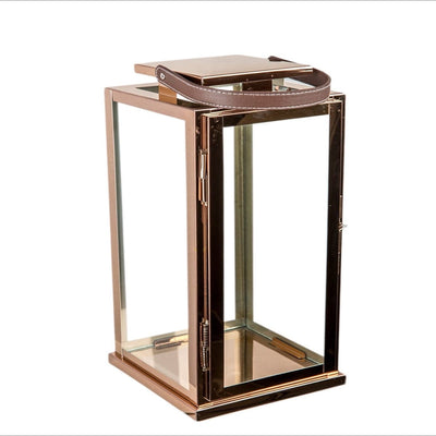 Harrington Rose Gold Stainless Steel Lantern (Small) - Home Artisan_4