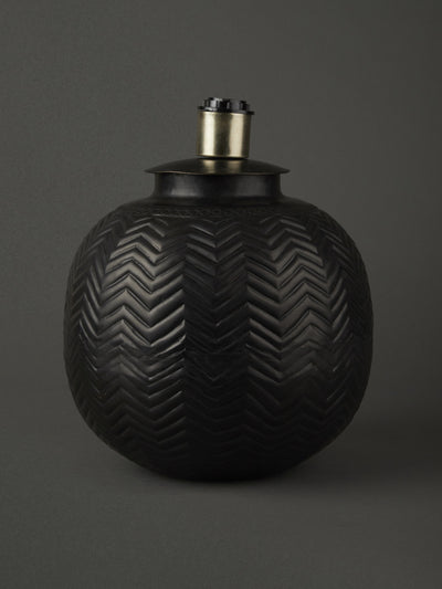 Black Lamp Base by Ritu Kumar Home