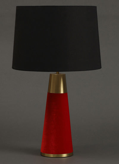 Red Table Lamp With Shade by Ritu Kumar Home - Home Artisan