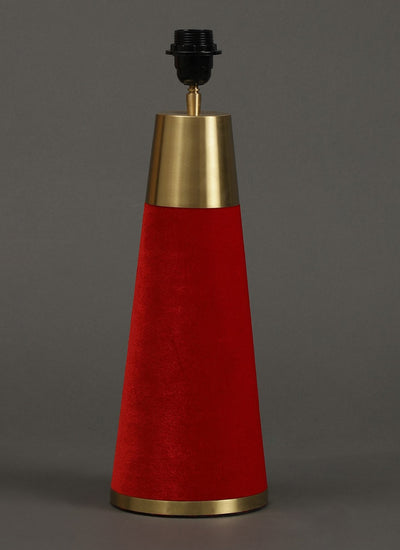 Red Table Lamp With Shade by Ritu Kumar Home