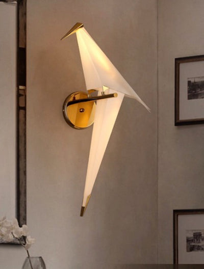 Niconne Ivory and Gold Bird Light (Left Facing) - Home Artisan