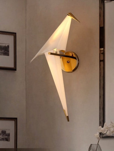 Niconne Ivory and Gold Bird Light (Right Facing) - Home Artisan