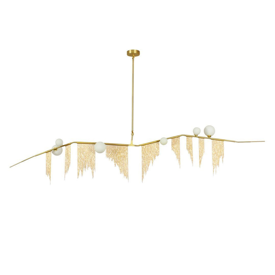 Simone Metallic Fringe 6-Light Chandelier - Home Artisan