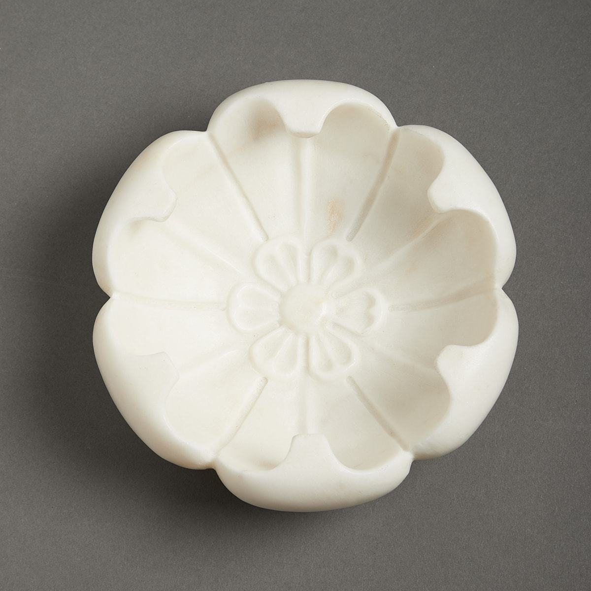 Ivory Awadh Marble Decorative (Blooming Flora) by Ritu Kumar Home - Home Artisan
