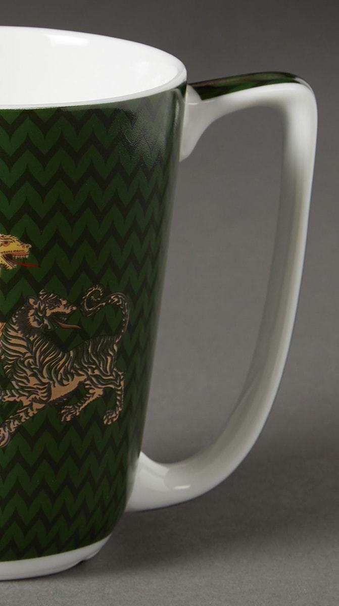 Green Baagh Mug by Ritu Kumar Home - Home Artisan