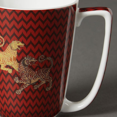 Red Baagh Mug by Ritu Kumar Home