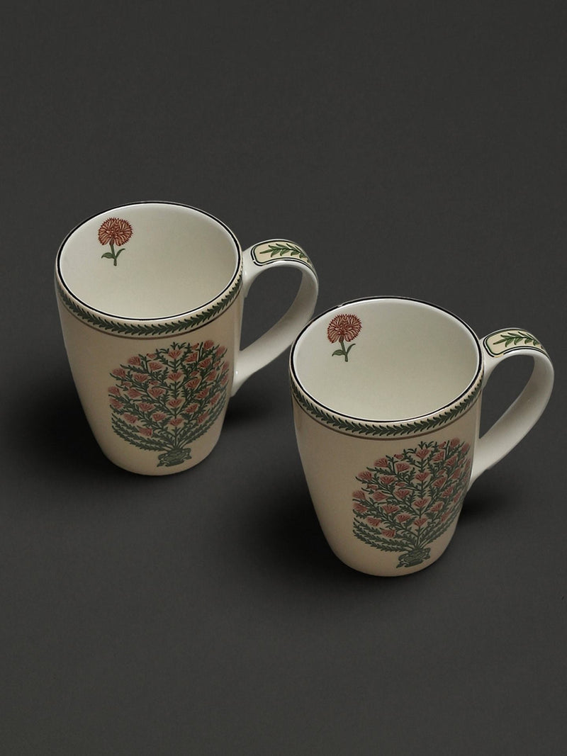 Beige Uttama Mugs (Set of 2) by Ritu Kumar Home - Home Artisan