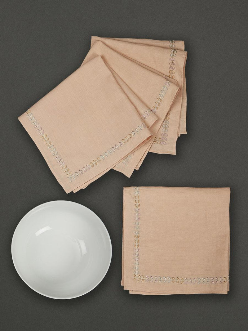 Multi Chidambaram Dinner Napkin (Set Of 4) by Ritu Kumar Home - Home Artisan