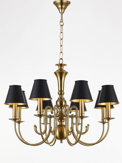 Carsten Black and Gold Chandelier