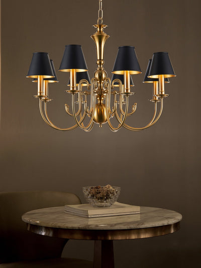 Carsten Black and Gold Chandelier - Home Artisan