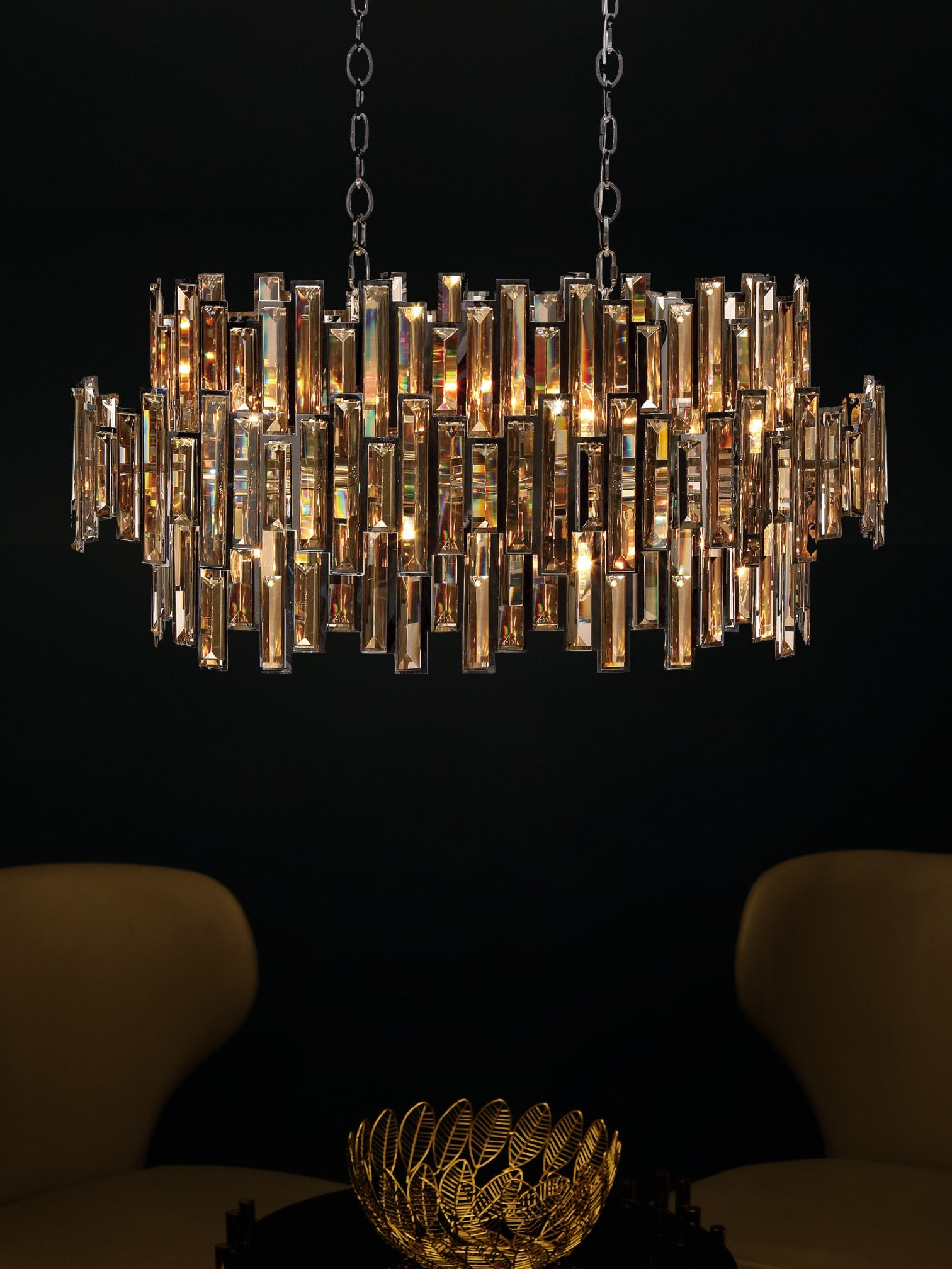 Rinaldi Champagne Crystal Chandelier - Home Artisan