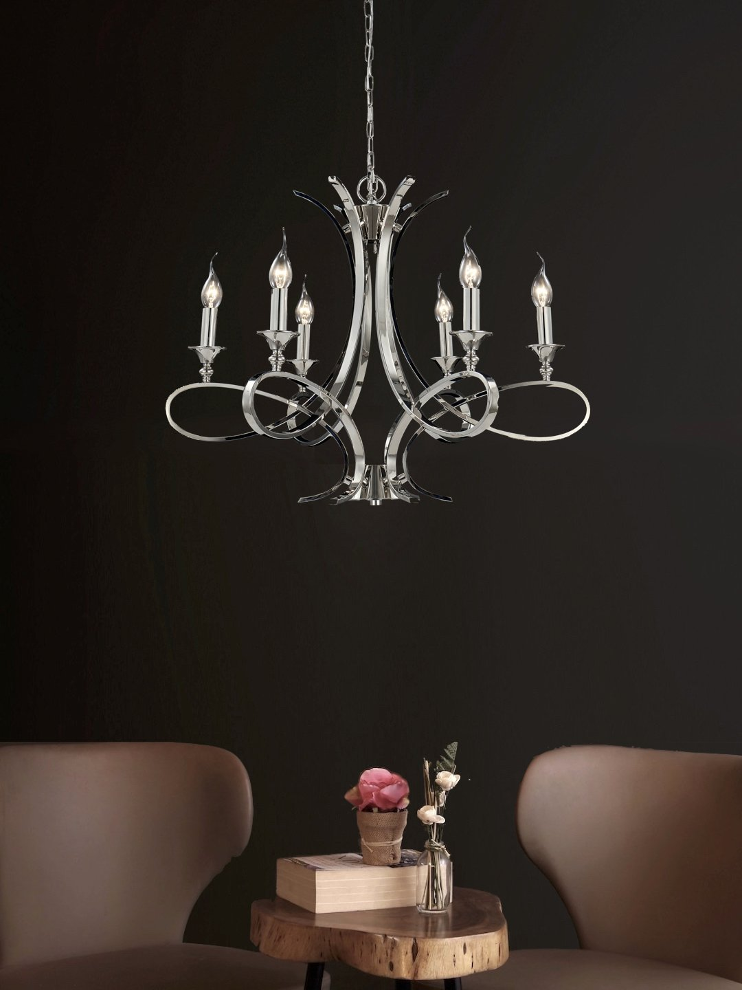 Edith 6-Lamp Chandelier - Home Artisan