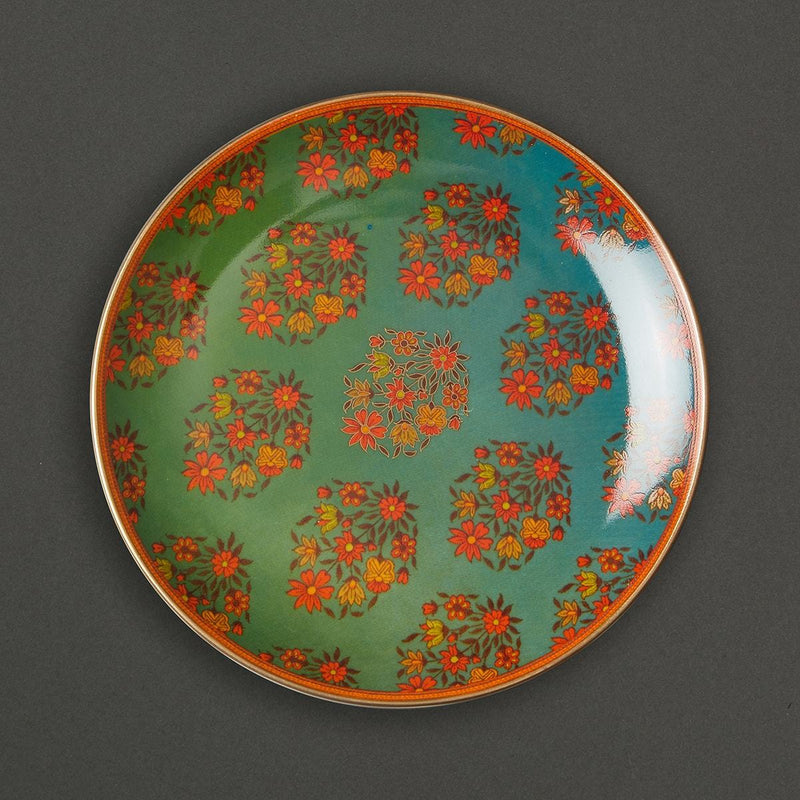 Multicolour Banki Ceramic Round Side Plate (Set of 4) by Ritu Kumar Home - Home Artisan