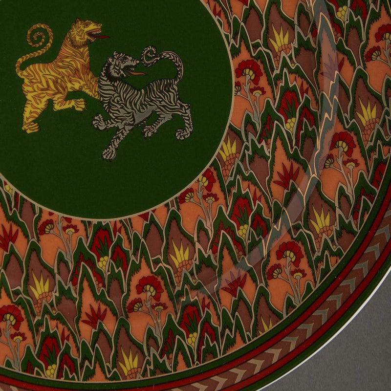 Green Baagh Charger Plate by Ritu Kumar Home