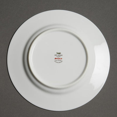 Off White Baagh Side Plate (Set of 4) by Ritu Kumar Home
