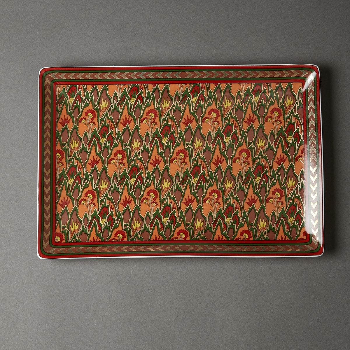 Multi Color Baagh Serving Platter by Ritu Kumar Home - Home Artisan