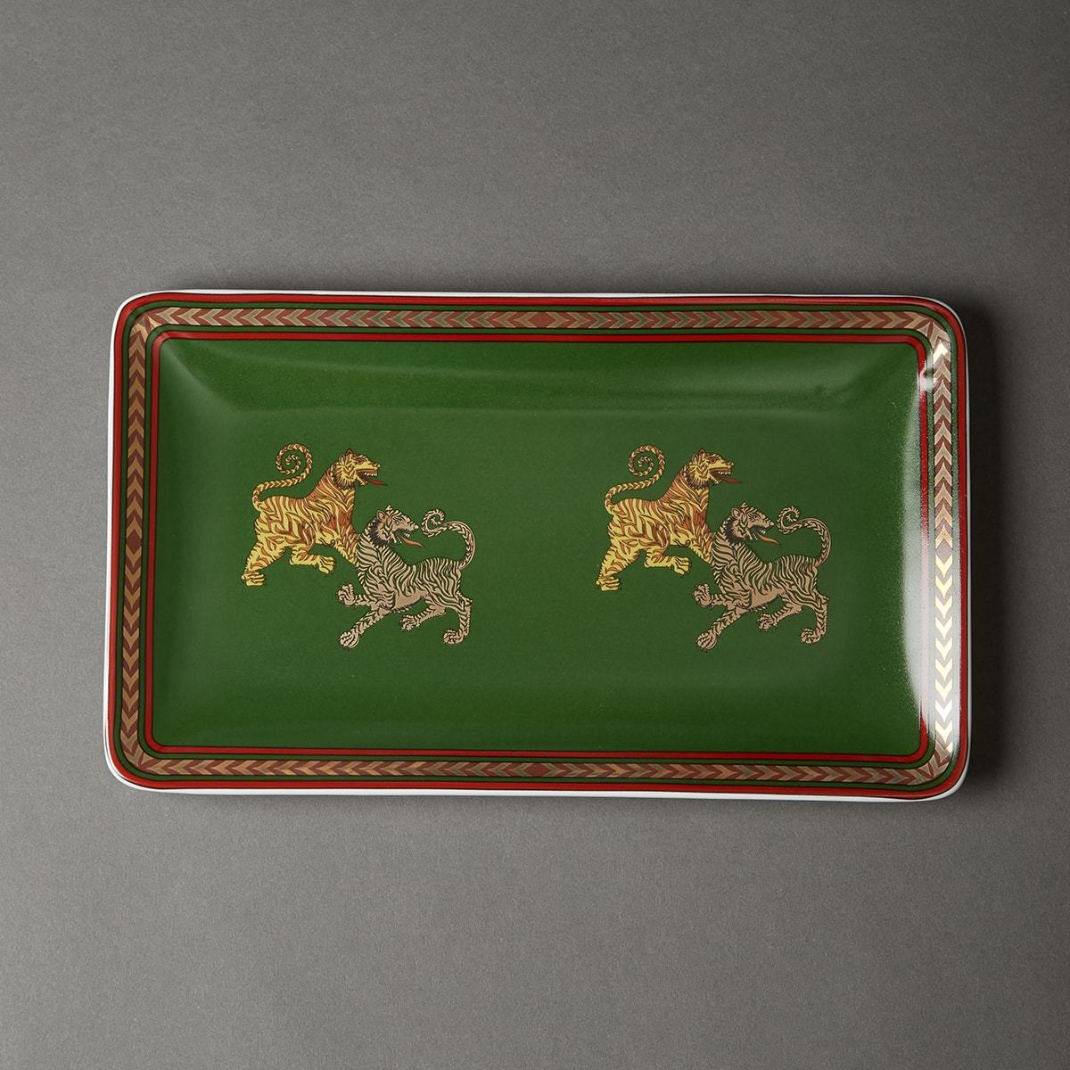 Green Baagh Serving Platter by Ritu Kumar Home - Home Artisan