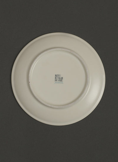 Yellow Jalmahal Side Plates (Set of 2) by Ritu Kumar Home