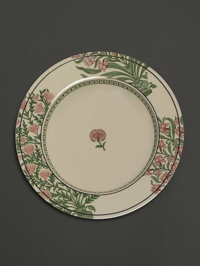 Beige Uttama Dinner Plates (Set of 2) by Ritu Kumar Home - Home Artisan