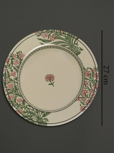 Beige Uttama Dinner Plates (Set of 2) by Ritu Kumar Home