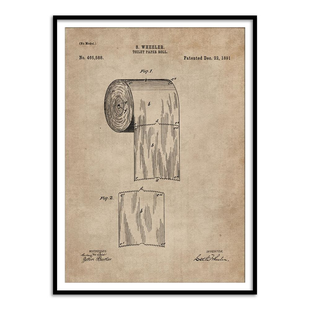 Patent Document of a Toilet Paper Roll - Home Artisan