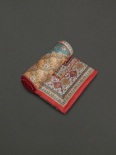 Multi Kalamkari Single Quilt by Ritu Kumar Home