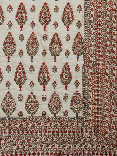 Ivory Chameli Single Quilt by Ritu Kumar Home