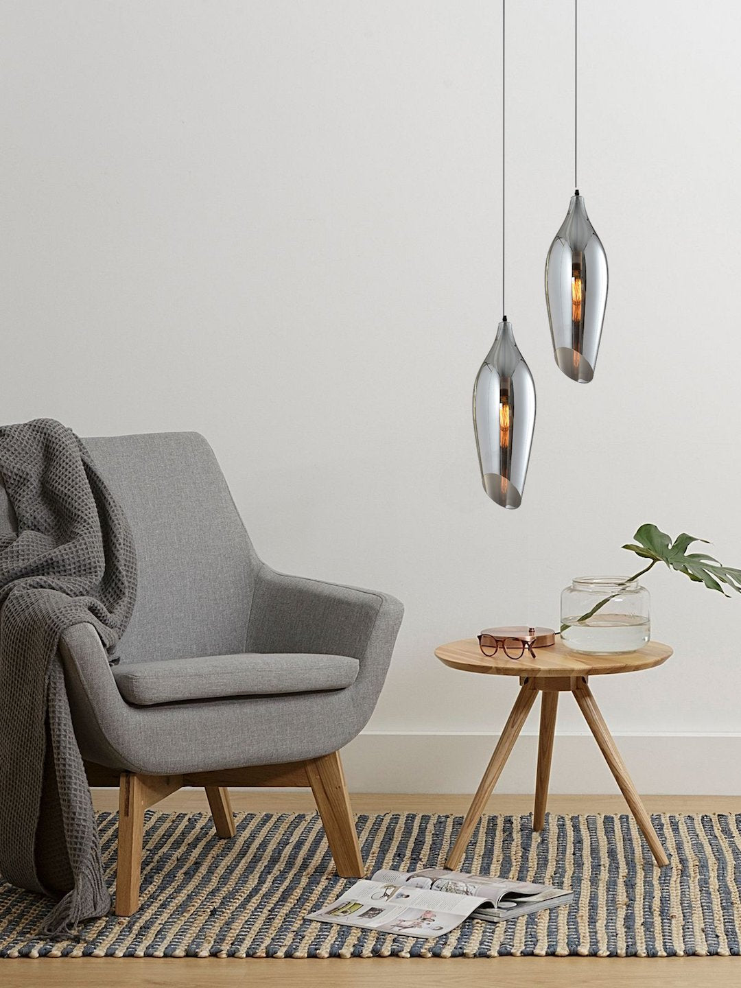 Audie Smoky Pendant Lamp