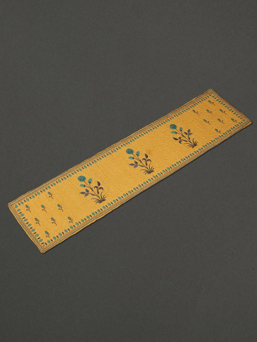 Yellow Jal Mahal Runner by Ritu Kumar Home - Home Artisan
