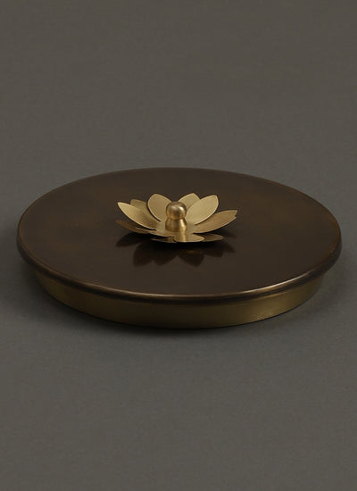 Antique Gold Lotus Spice Box by Ritu Kumar Home