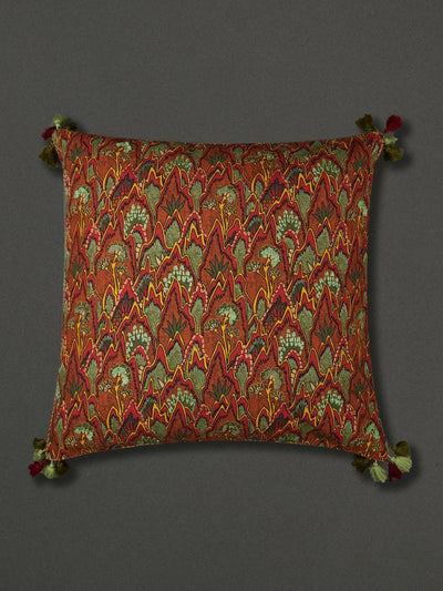 Green Baagh Euro Sham With Filler by Ritu Kumar Home - Home Artisan