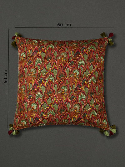 Green Baagh Euro Sham With Filler by Ritu Kumar Home