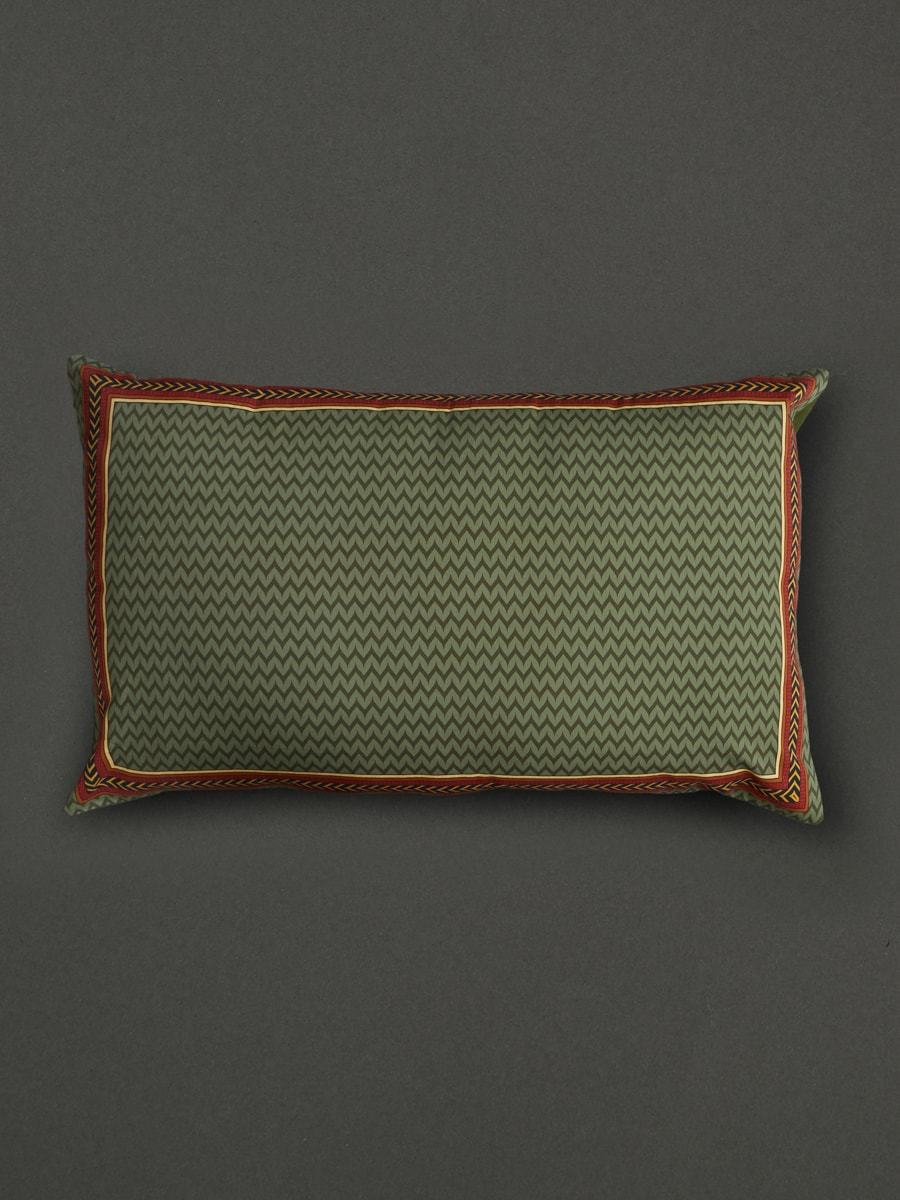 Green Baagh Pillow Sham With Filler by Ritu Kumar Home - Home Artisan