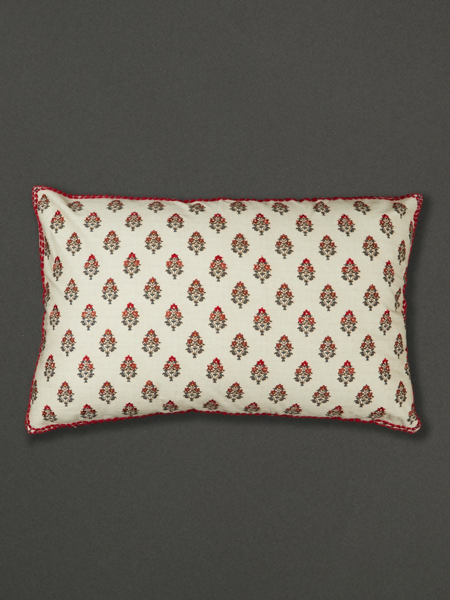 Ivory Chameli Pillow Sham With Filler by Ritu Kumar Home - Home Artisan