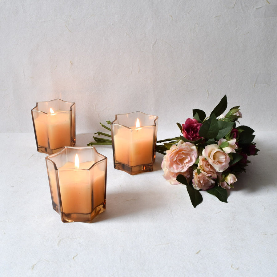 Starburst Brown Candles (Set of 3)
