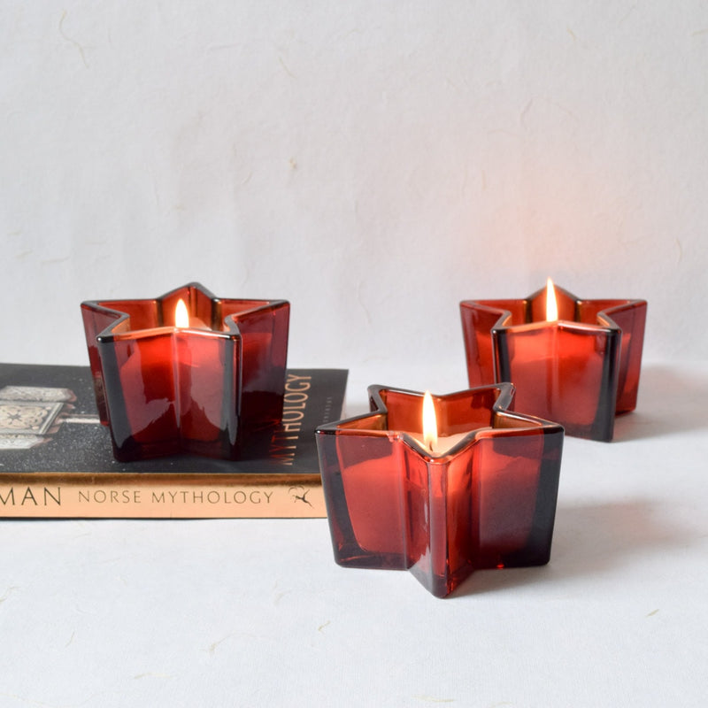 Starburst Red Wine Candles (Set of 3)