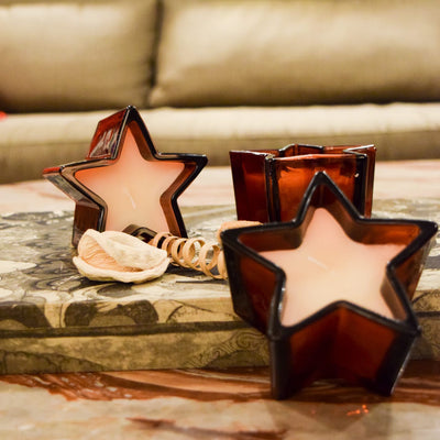 Starburst Red Wine Candles (Set of 3) - Home Artisan_3