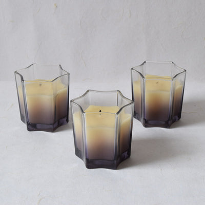 Starburst Smoky Glass Candles (Set of 3) - Home Artisan_3