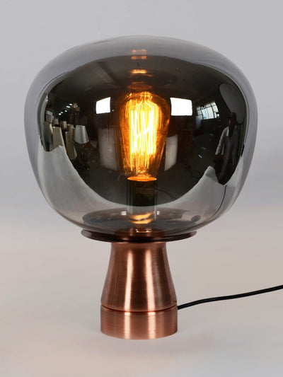 Pippin Glass Table Lamp - Smoky Grey - Home Artisan