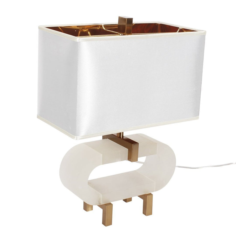 Leeroy Marble Ring Table Lamp