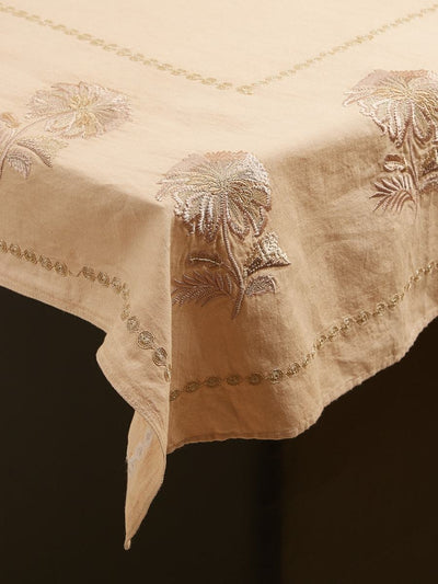 Nude Chidambaram Table Cloth by Ritu Kumar Home - Home Artisan