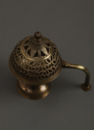 Antique Gold Temple Incense Burner by Ritu Kumar Home