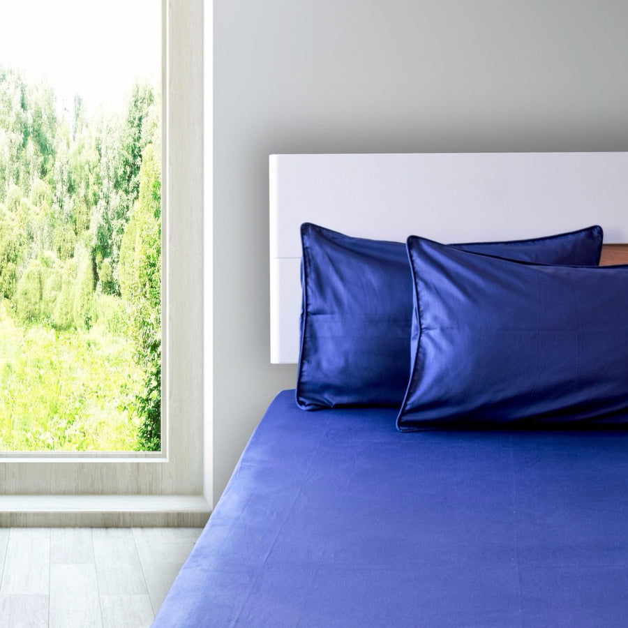 Theo Navy Blue Bed Sheet