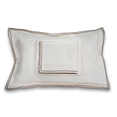 Waves Cream Cotton Sateen Bed Sheet by Veda Homes - Home Artisan