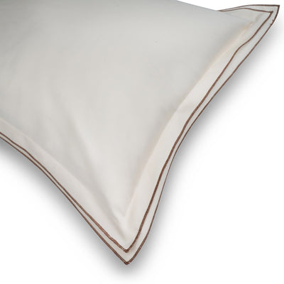 Waves Cream Cotton Sateen Bed Sheet by Veda Homes