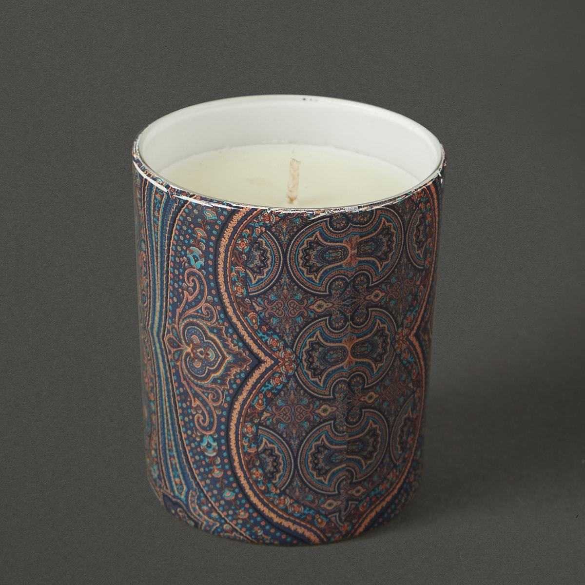 Blue Jaamevar Votive by Ritu Kumar Home - Home Artisan