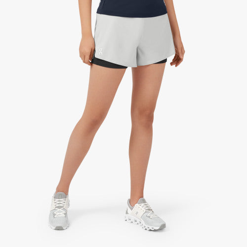 WOMAN'S ON RUNNING SHORTS (GLACIER/BLACK)